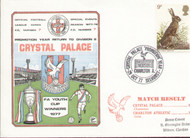 original first day cover to celebrate Crystal Palace returning to Division II. Issued October 1977, complete with filler card.