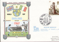 Original first day cover to celebrate the World Cup Qualifier England V Italy. Issued November 1977. Complete with filler card.