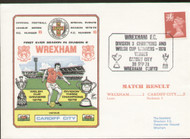 original first day cover to celebrate Wrexham Division III Champions, issued in September 1978. Complete with filler card.