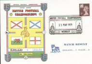 original first day cover to celebrate the International Match England V Wales. Issued May 1979. Complete with filler card.