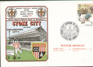original first day cover to celebrate Stoke City's return to Division 1, issued in August 1979. Complete with filler card.