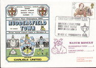 original first day cover to celebrate Huddersfield's return to Division 3 as Champions, issued in August 1980. Complete with filler card.