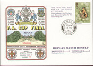 original first day cover to celebrate The FA Cup Final Replay 1981, Manchester City V Tottenham Hotspur, issued 14 May 1981. Complete with filler card.