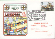 original first day cover celebrate Liverpool kicking off in Europe as European Champions. Issued September 1981. Complete with filler card.