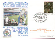 original first day cover to celebrate Blackburn Rovers in Europe as League Champions, issued on September 1995. Complete with original postcard.
