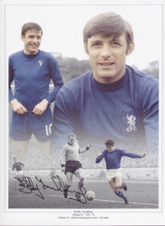 Bobby Tambling - Chelsea legend and all time leading scorer with 202 goals. Superb montage capturing some of the magic moments from Bobby's 366 career appearances for Chelsea. Great addition to any collection.