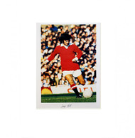 George Best in action for Manchester United. Fantastic piece of Manchester United memorabilia.