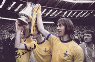 Charlie George celebrates with George Graham & Frank McLintock after Arsenal's 1971 FA Cup Final triumph over Liverpool in 1971.