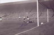 England V Hungary Wembley Stadium 1953. England and Aston Villa player Jackie Sewell scores England's first goal against Hungary in 1953. England eventually lost 6-3 in a famous victory for the Magyars. Superb piece of football memorabillia.
