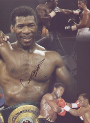 """Former WBO World Champion Carl """" The Cat """" Thompson signed Montage. Superb action montage showing Carl celebrating with his WBO Belt and his fights with David Haye & Chris Eubank. Signed by Carl Thompson at a commercial signing session held at the Reebock Stadium on 11 March 2010."""