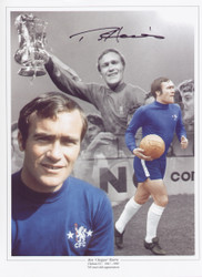"Ron Harris known by the nickname ""Chopper"", is a former English footballer who played for Chelsea in the 1960s and 1970s. Harris is widely regarded as one of the toughest defenders of his era, super signed montage."