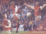 Ray Parlour scoring the first goal in the Gunners' 2-0 win over Chelsea in the 2002 FA Cup final at the Millennium Stadium.