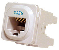 Cat 6 IDC Data Jack Blk 50-Bucket - P4666BLK