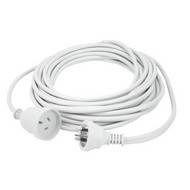 10m Extn Cord White Powermaster Retail Polybag - K4010