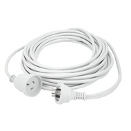 25m Extn Cord White Powermaster Retail Polybag - K4025