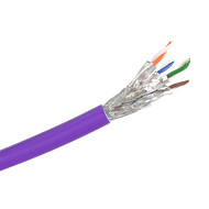Cat 6a S/FTP Solid LSZH Purple 305m Reel - Y8700PUR