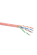 CAT-5e STRANDED CABLE (PINK) 305m PULL BOX