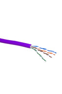 CAT-5e STRANDED CABLE (PURPLE) 305m PULL BOX