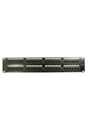 Cat6  48 Port 2RU  Patch Panel with integrated rear cable management loops