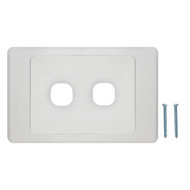 2-Port Aust Flush Plate - P4602WHI