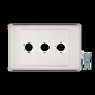 3-Port Aust Flush Plate - P4603WHI