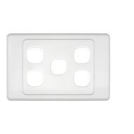5-Port Aust Flush Plate - P4605WHI