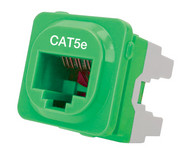 Cat 5e IDC Data Jack Grn 50-Bucket - P4665GRN