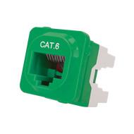 Cat 6 IDC Data Jack Grn 50-Bucket - P4666GRN