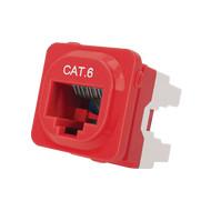 Cat 6 IDC Data Jack Red 50-Bucket - P4666RED