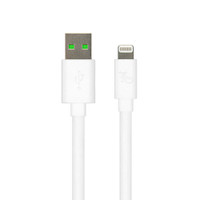 Gecko Lightning to USB Flat Cable 1m - White