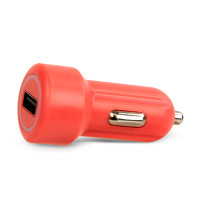 Gecko Car Charger Single USB Port 2.4 Amp - Pink