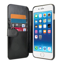 Gecko Deluxe Wallet Case for iPhone 6/6s Plus - Black