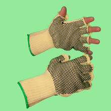 Fingerless Dotted Aramid Knitted Glove (FKK7M/PD/KW)
