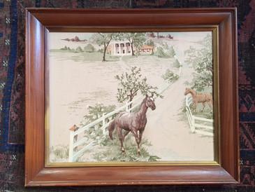 Framed Horse Textile