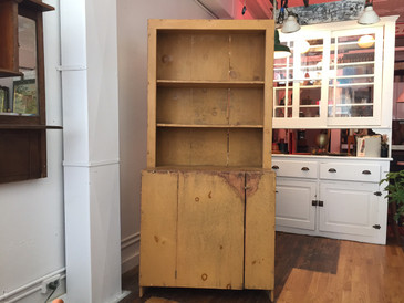 Primitive Hutch in Classic Mustard Yellow