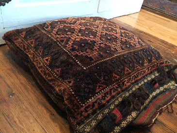 Persian Cushion Cover, Kilim back