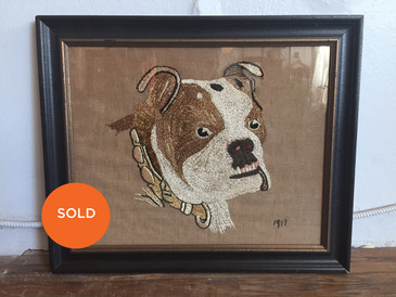 Bulldog Embroidery 1917
