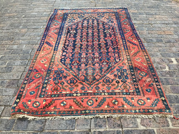 Antique Kurdish Rug, 4'3x7'