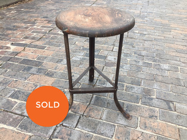 Industrial Stool, 3 legs