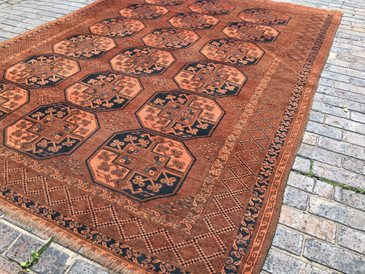 Vintage Large Persian Rug Turkoman