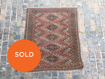"Vintage Ersari Wedding 3'1""x3'8"" Rug"