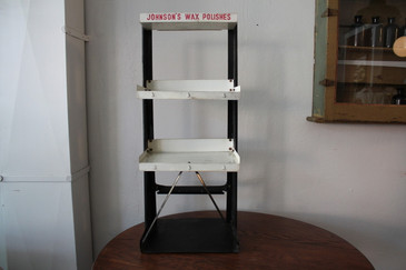 Johnson's Metal Advertising Tiered Display Stand