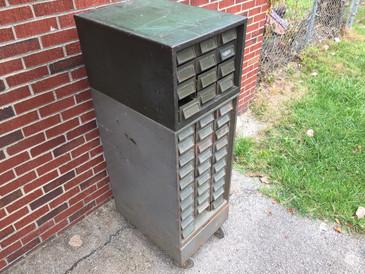 Vintage Addressograph Co. Multi Drawer Storage Unit