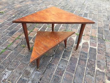 Vintage Set of Midcentury Handmade Nesting Tables