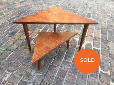 Vintage Set of Midcentury Handmade Nesting Tables
