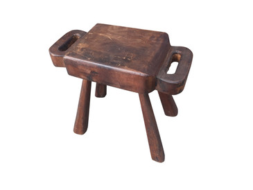 Antique Primitive Wooden Milking Stool
