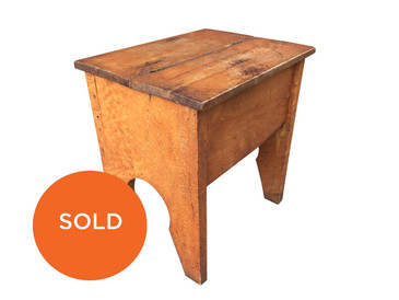 Antique Stool and Shoeshine Box made from Birdseye Maple
