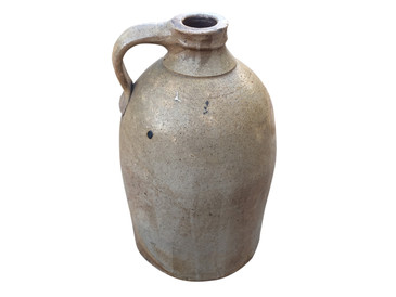 Antique Salt Glaze Stoneware Moonshine Jug