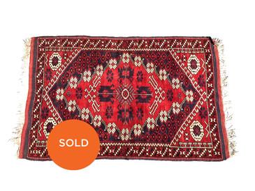 "Central Anatolian Vintage Wedding Rug, 5'3"" x 3'4"""
