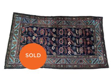 "Persian Hamadan vintage rug, 6'2"" x 3'7"""